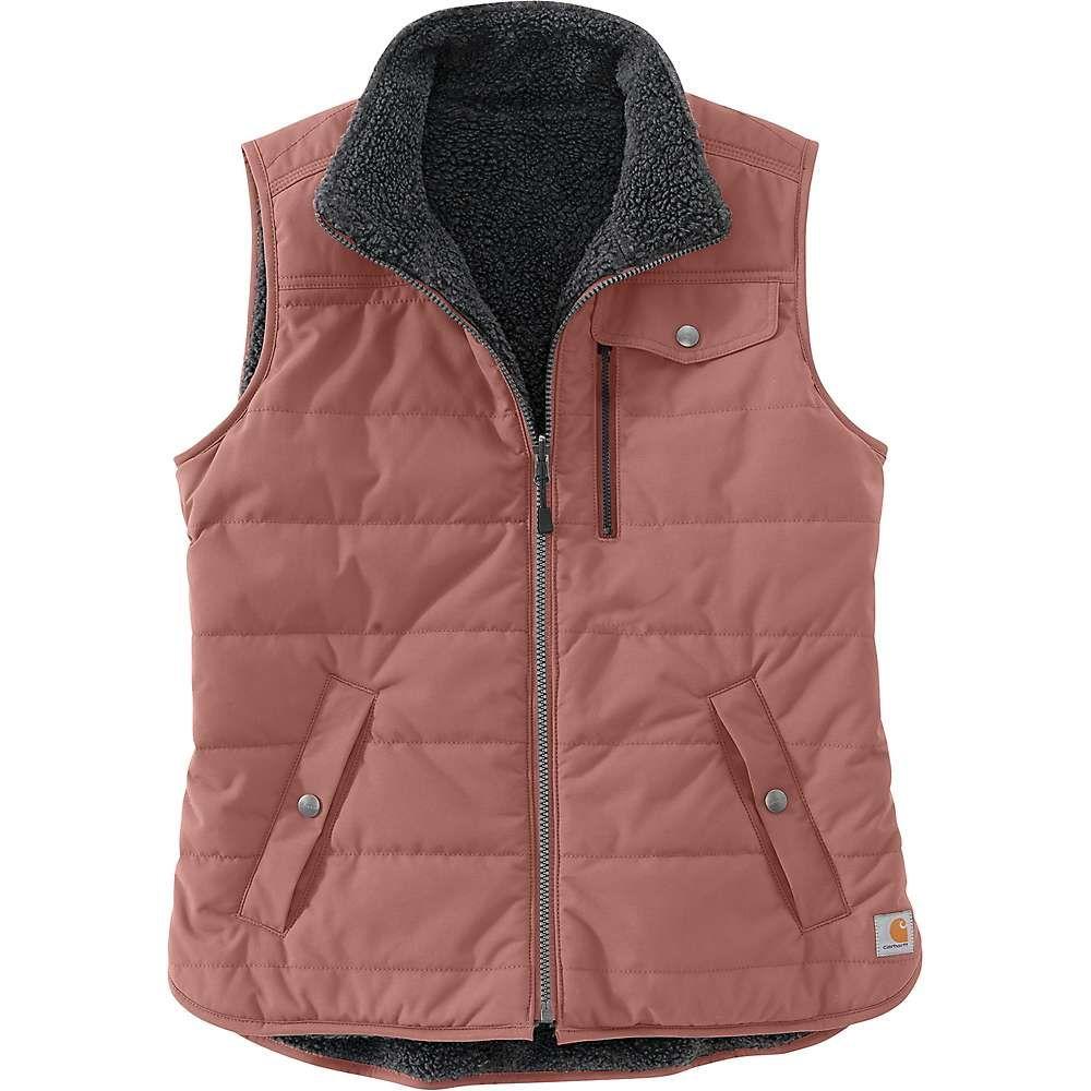 カーハート Carhartt レディース ベスト・ジレ トップス【utility sherpa lined vest】Burlwood