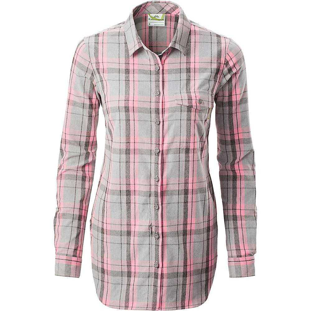 カトマンズ Kathmandu レディース ブラウス・シャツ トップス【federate l/s shirt】Pink Check