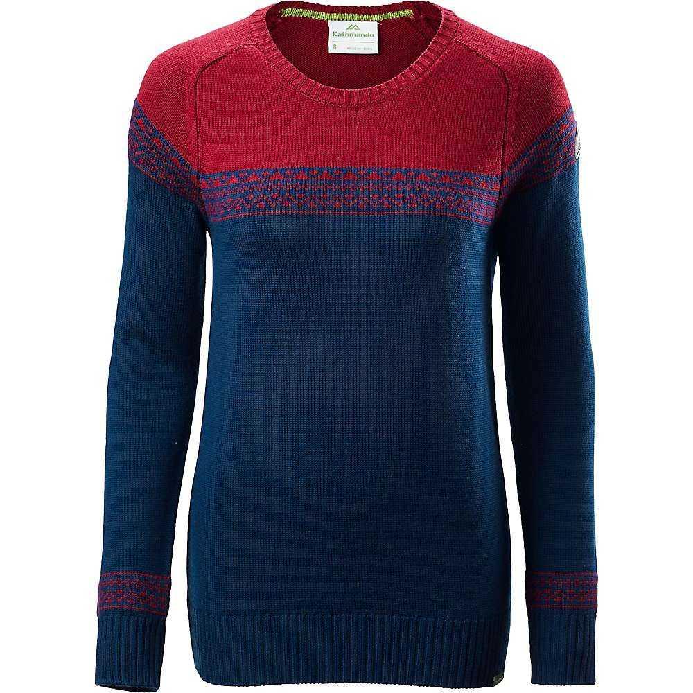 カトマンズ Kathmandu レディース ニット・セーター トップス【winterburn knit】Blue Teal/Russet Marle