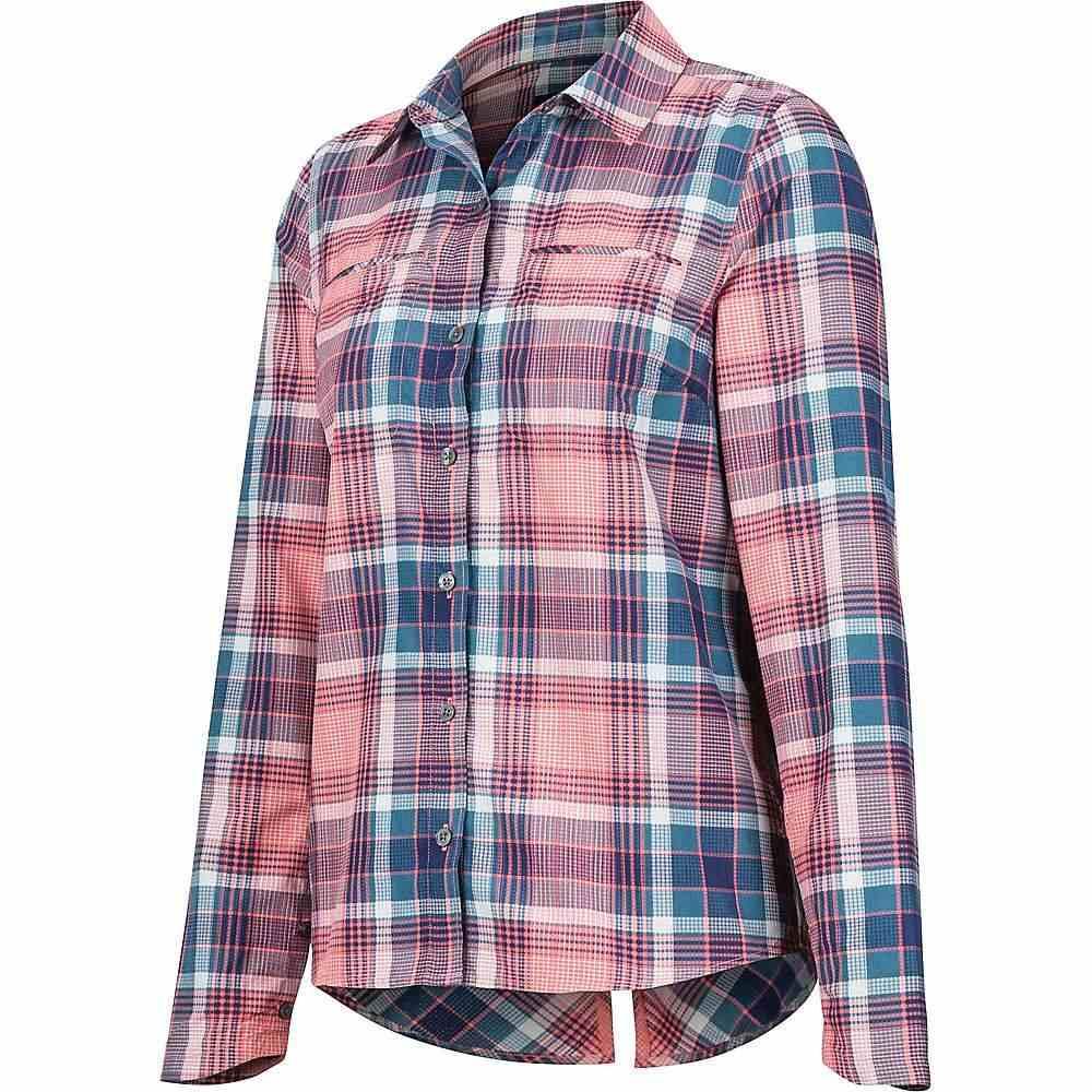 マーモット Marmot レディース ハイキング・登山 シャツ トップス【aeolian ls shirt】Arctic Navy
