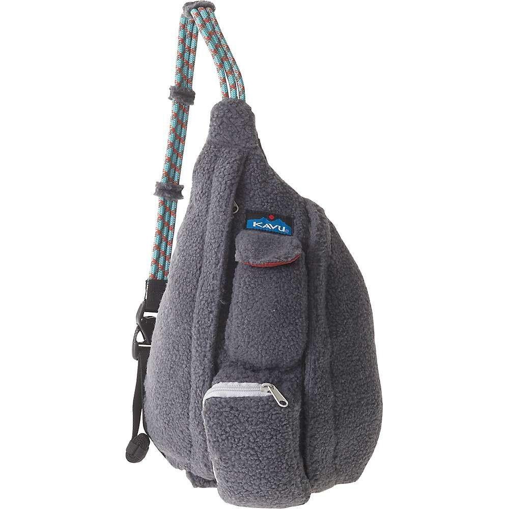 カブー Kavu レディース ショルダーバッグ バッグ【mini rope fleece sling bag】Charcoal