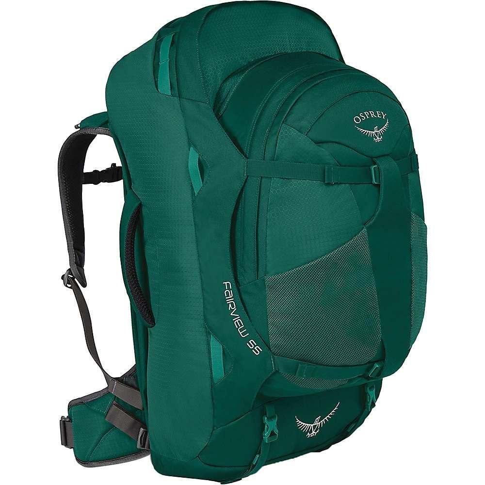 オスプレー Osprey レディース バックパック・リュック バッグ【fairview 55 travel pack】Rainforest Green