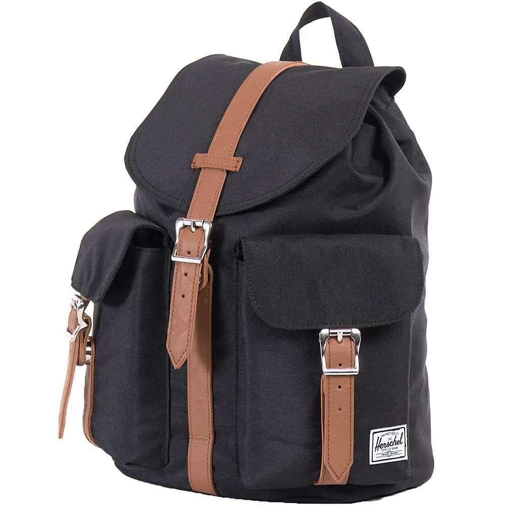 ハーシェル サプライ Herschel Supply Co レディース ハイキング・登山 バックパック・リュック【dawson small backpack】Black/Tan Synthetic Leather
