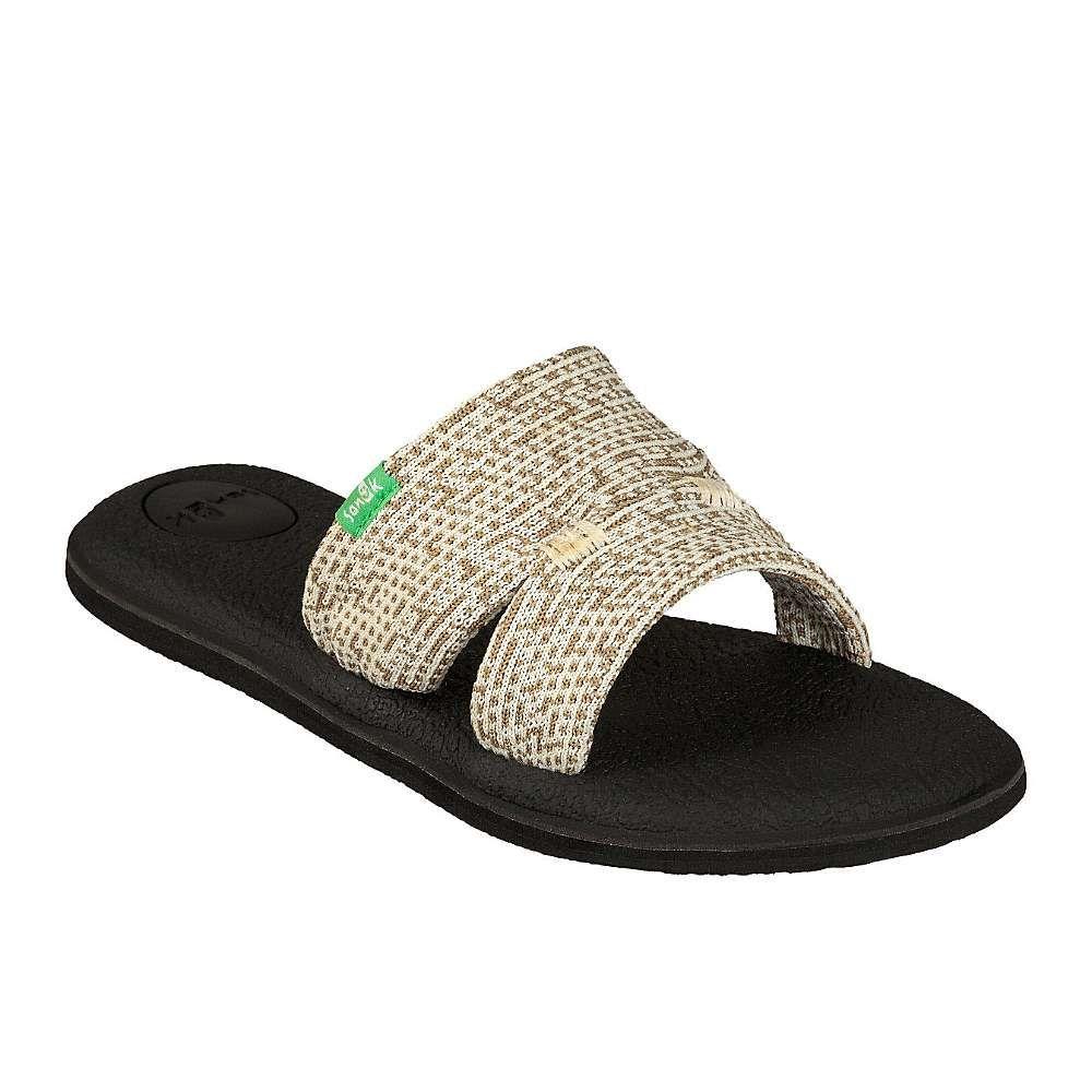 サヌーク Sanuk レディース ヨガ・ピラティス クロップド サンダル シューズ・靴【yoga mat capri knit sandal】Natural Multi Knit