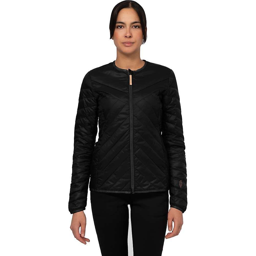 インデジェナ Indygena レディース フィットネス・トレーニング トップス【vedo long sleeve zip-up】Pure Black