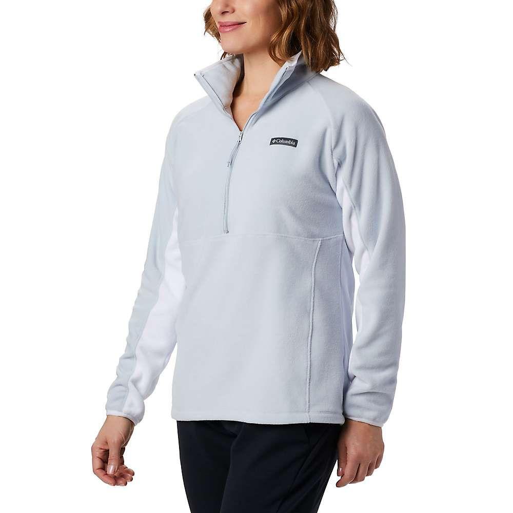 コロンビア Columbia レディース ランニング・ウォーキング トップス【basin fleece trail half zip】Cirrus Grey/White