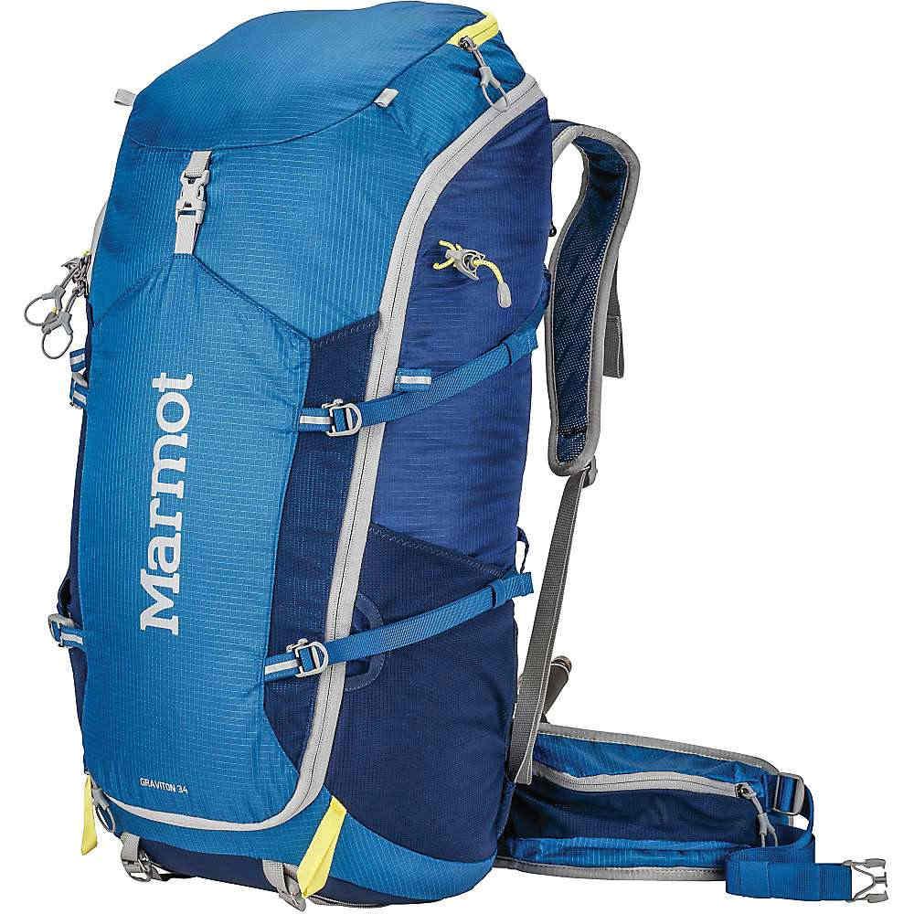 マーモット ユニセックス メンズ レディース ハイキング バッグ【Marmot Graviton 34 Backpack】Blue Night / Dark Ink