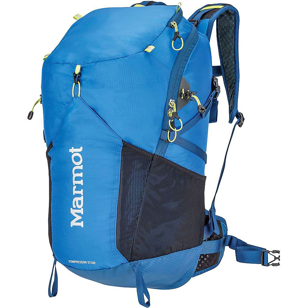 マーモット ユニセックス メンズ レディース ハイキング バッグ【Marmot Kompressor Star Backpack】Peak Blue / Dark Sapphire