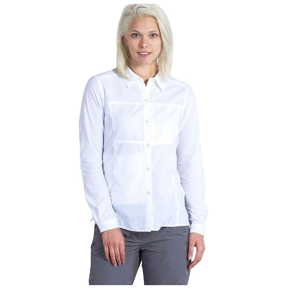 エクスオフィシオ レディース トップス 長袖シャツ【ExOfficio Lightscape LS Shirt】White
