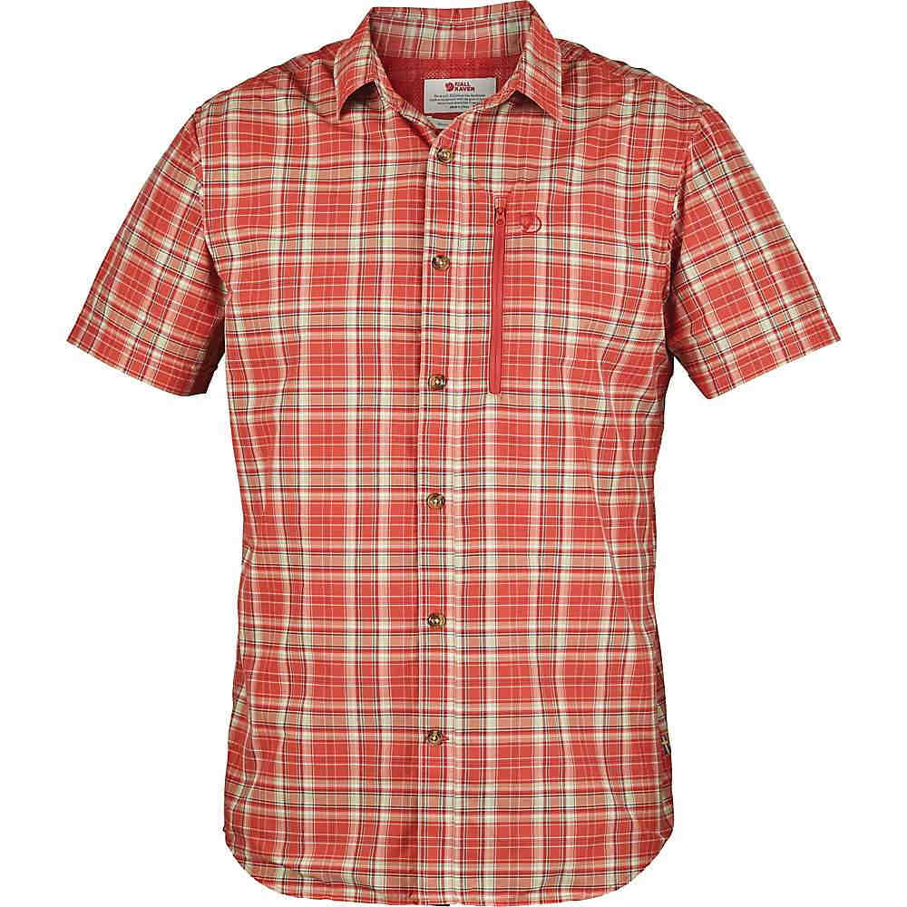 フェールラーベン メンズ トップス 半袖シャツ【Fjallraven Abisko Hike SS Shirt】Flame Orange Plaid
