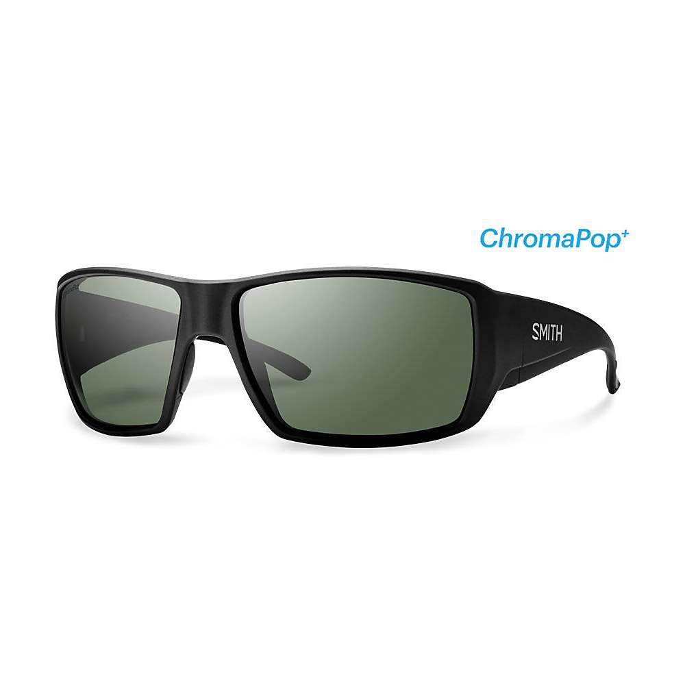 スミス メンズ アクセサリー メガネ・サングラス【Smith Guides Choice Chromapop+ Polorized Sunglasses】Matte Black / Polarized Grey Green