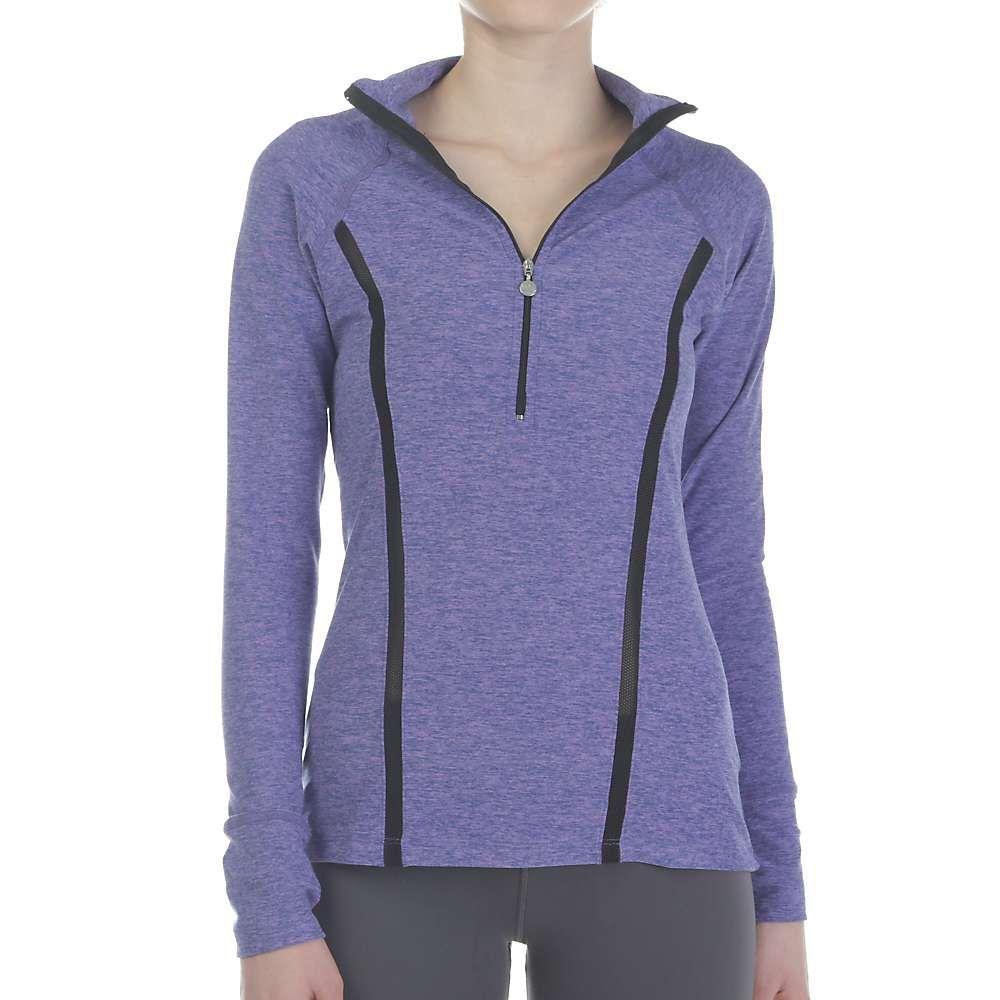 ビヨンドヨガ Beyond Yoga レディース ブラウス・シャツ トップス【lattice half zip pullover】Faded Denim/Lavender Mist