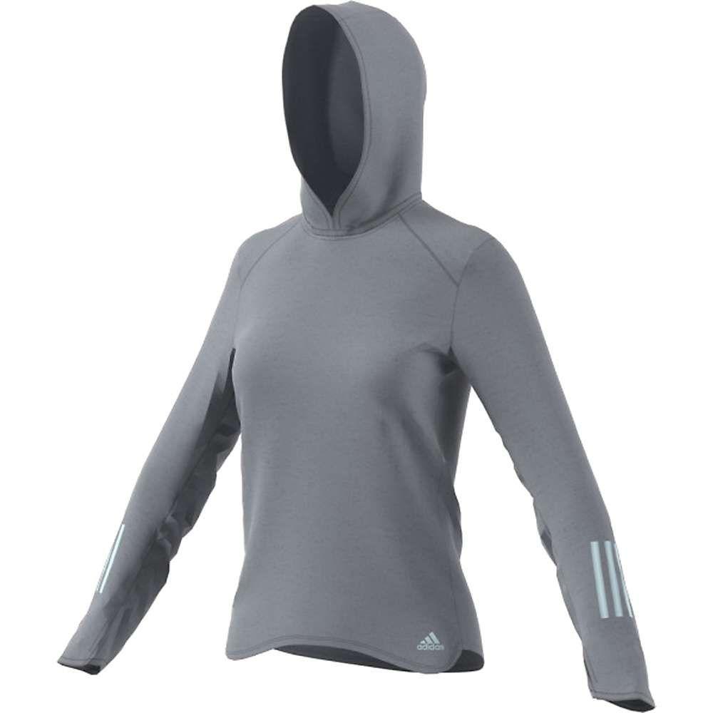 アディダス Adidas レディース パーカー トップス【response hoodie】Grey