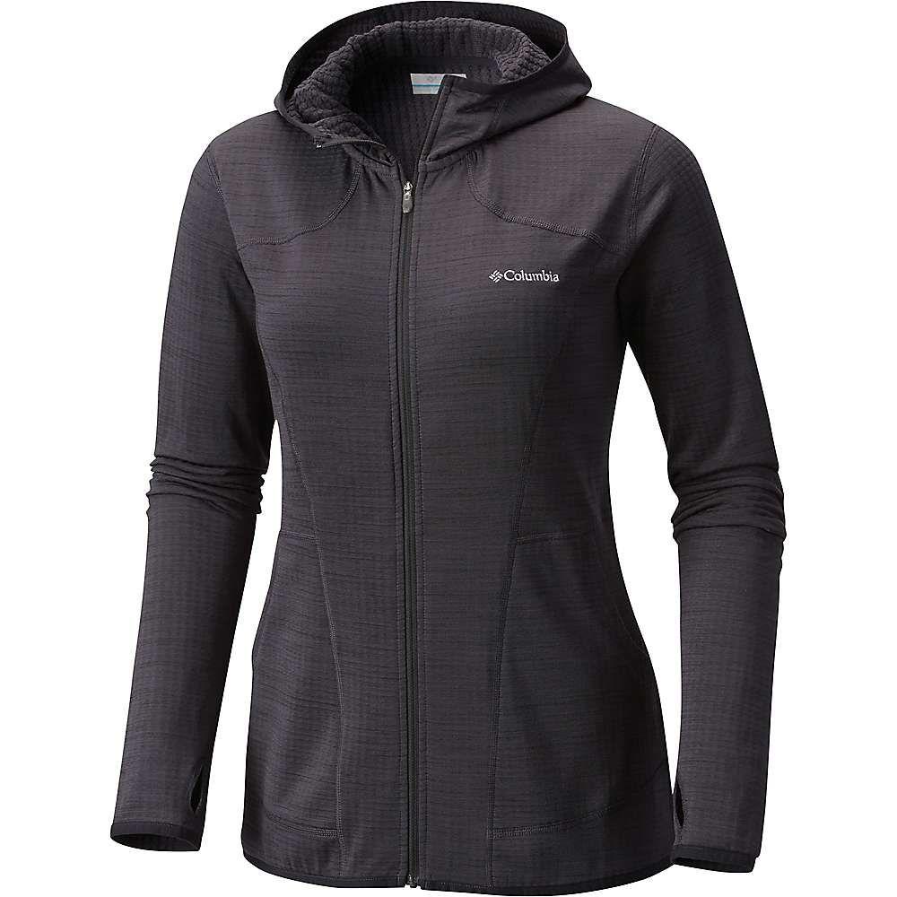 コロンビア Columbia レディース フリース トップス【feather brush full zip fleece hoodie】Black Heather