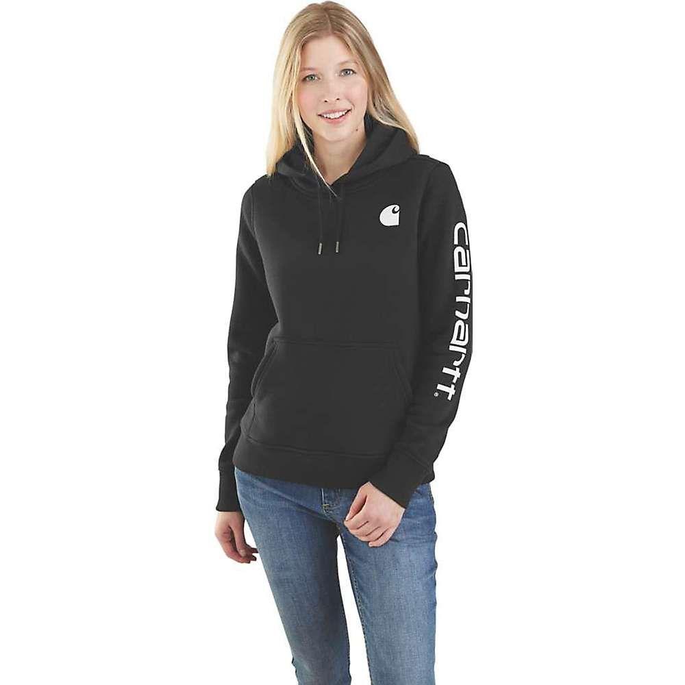 カーハート Carhartt レディース スウェット・トレーナー トップス【clarksburg graphic sleeve pullover sweatshirt】Black