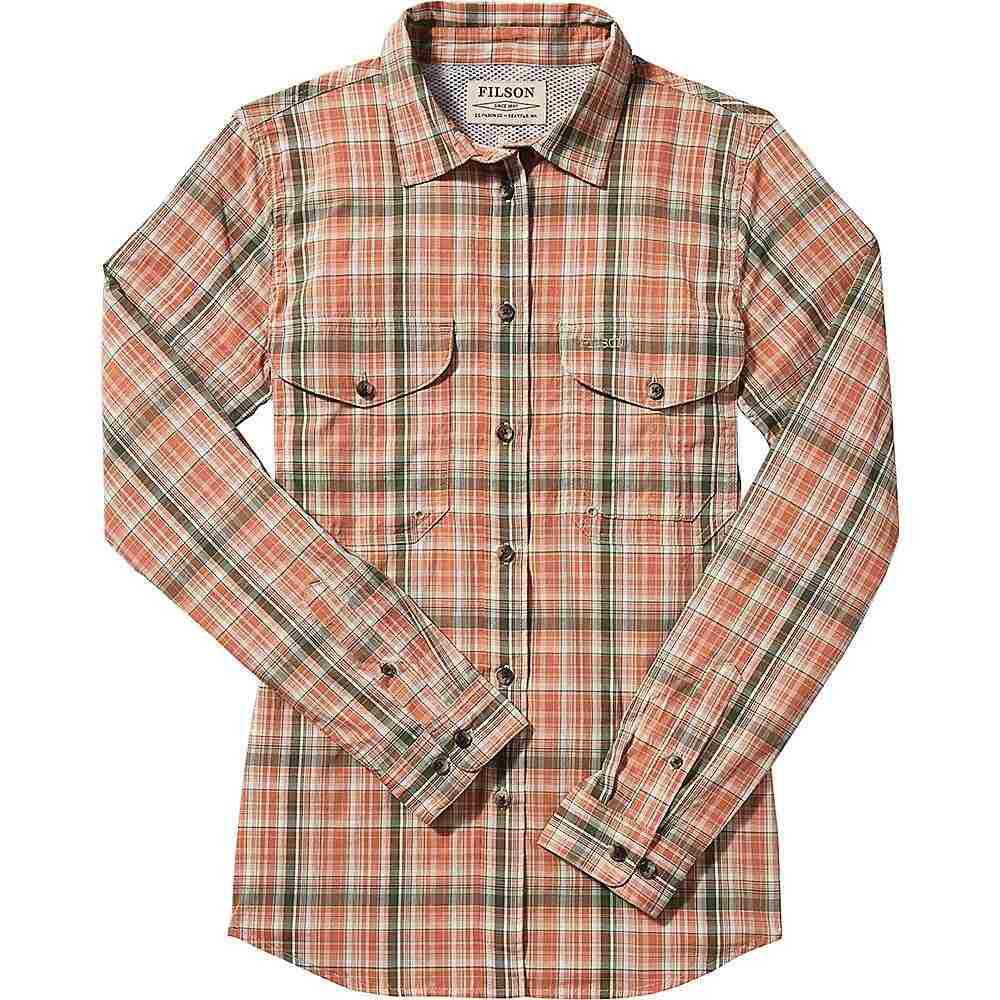 フィルソン Filson レディース ブラウス・シャツ トップス【twin lakes sport shirt spandex】Auburn Birch Plaid