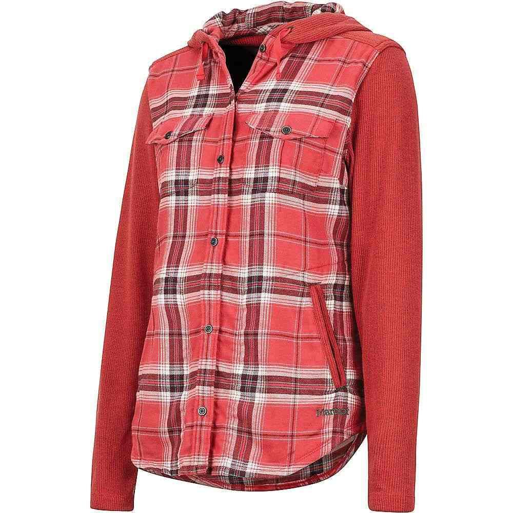マーモット Marmot レディース ブラウス・シャツ フランネルシャツ トップス【reagan midweight flannel ls shirt】Desert Red