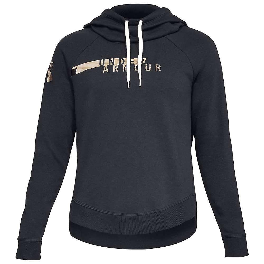 アンダーアーマー Under Armour レディース フリース トップス【favorite fleece camo logo hoodie】Black/UA Barren Camo