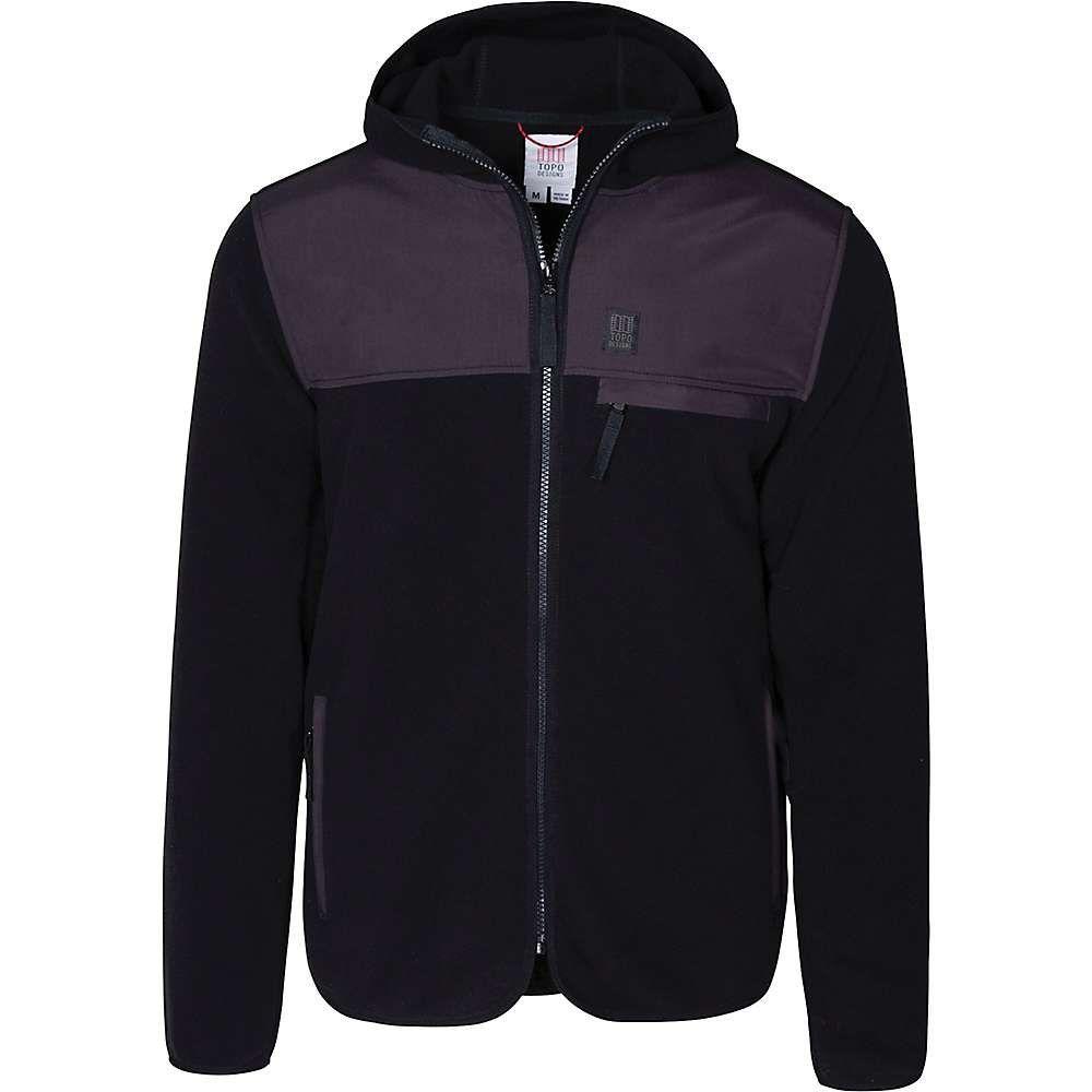 トポ デザイン Topo Designs メンズ フリース トップス【fleece hoodie】Black