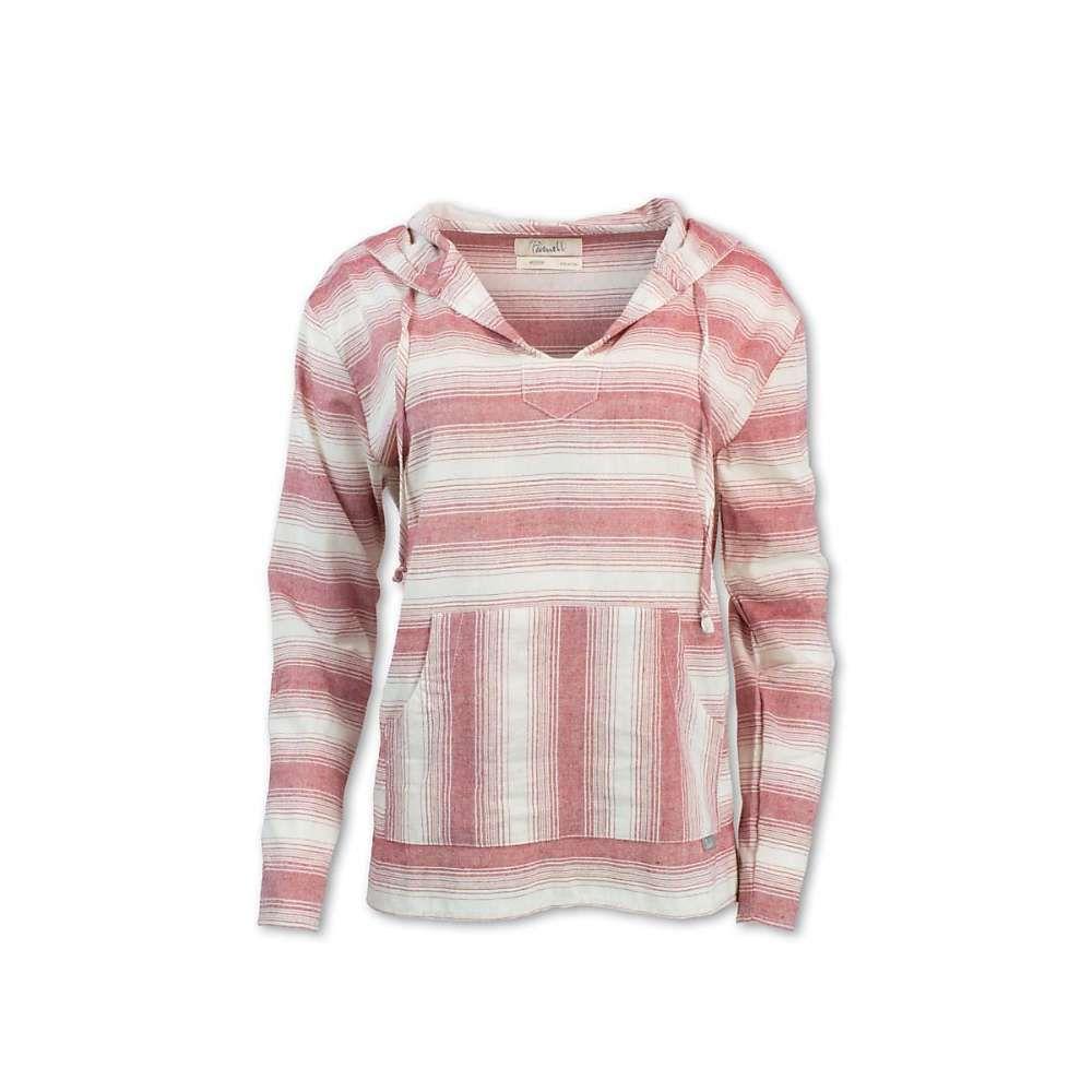 パーネル Purnell レディース ブラウス・シャツ トップス【striped pullover】Red