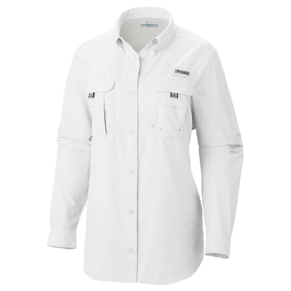 コロンビア レディース 定番スタイル 釣り フィッシング トップス White Shirt 売却 LS Columbia サイズ交換無料 Bahama