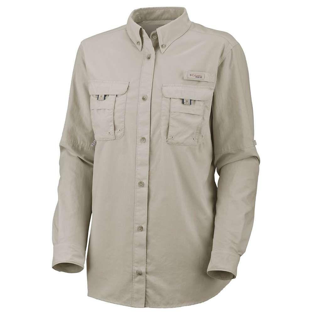 コロンビア レディース お得クーポン発行中 釣り キャンペーンもお見逃しなく フィッシング トップス Fossil Shirt Columbia サイズ交換無料 LS Bahama