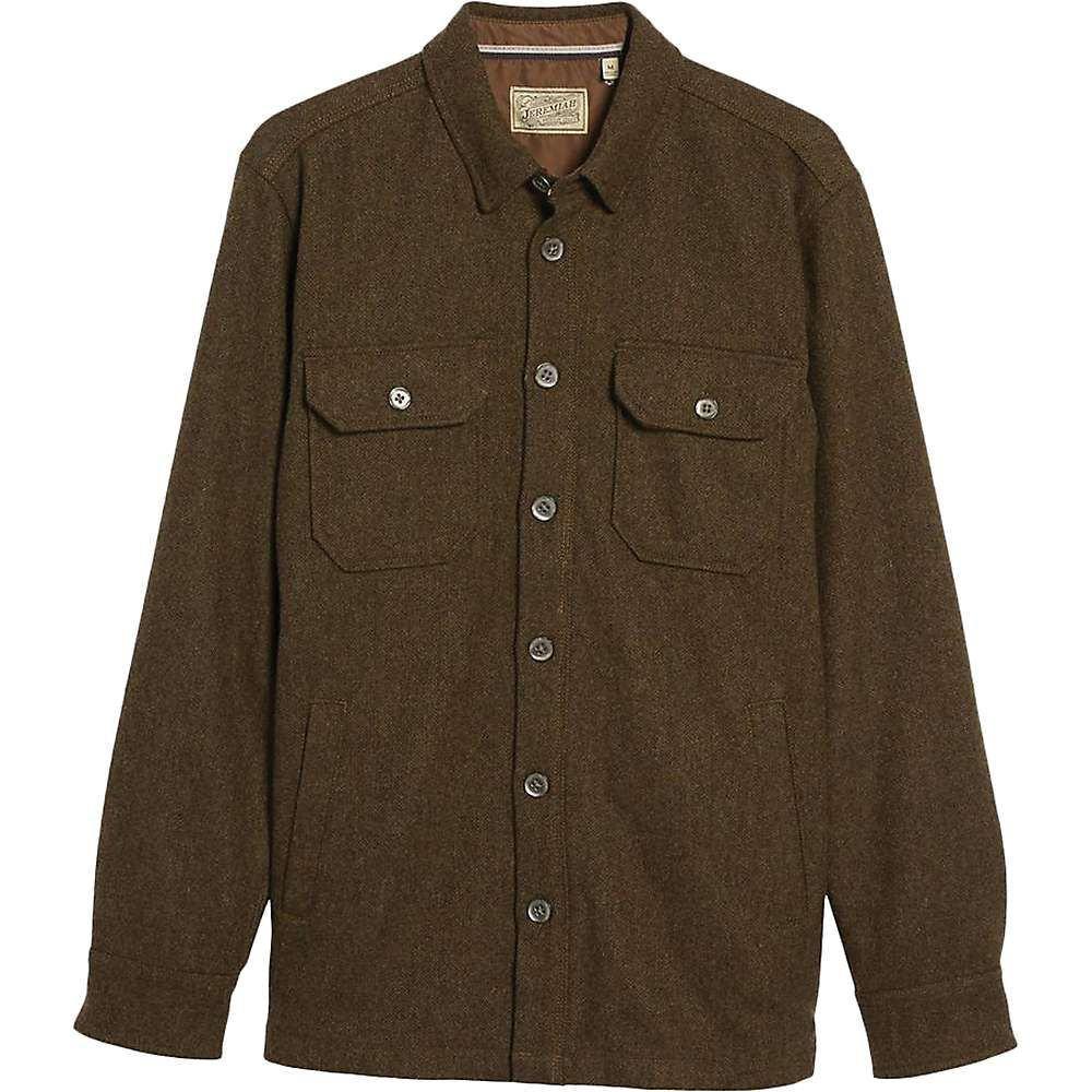 ジェレミア Jeremiah メンズ ジャケット シャツジャケット アウター【creek wool herringbone shirt jacket】Peat HTR