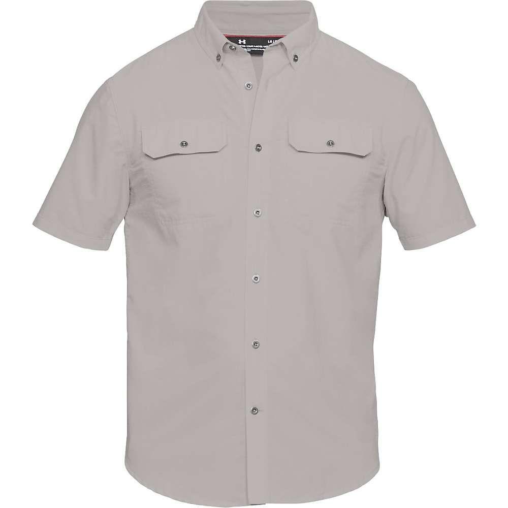 アンダーアーマー Under Armour メンズ 半袖シャツ トップス【ua threadborne grit woven ss shirt】Ghost Grey/Ghost Grey