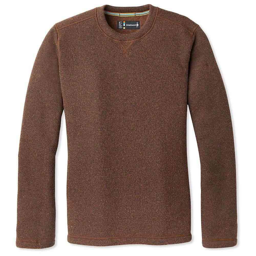 スマートウール Smartwool メンズ フリース トップス【hudson trail fleece crew sweater】Bourbon Heather