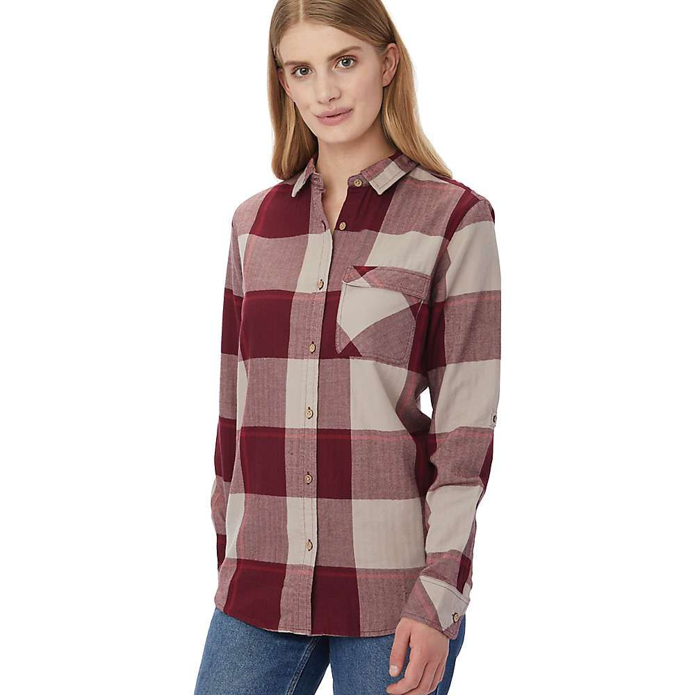 テンツリー tentree レディース ブラウス・シャツ トップス【kimberly ls button up shirt】Burgundy Plaid