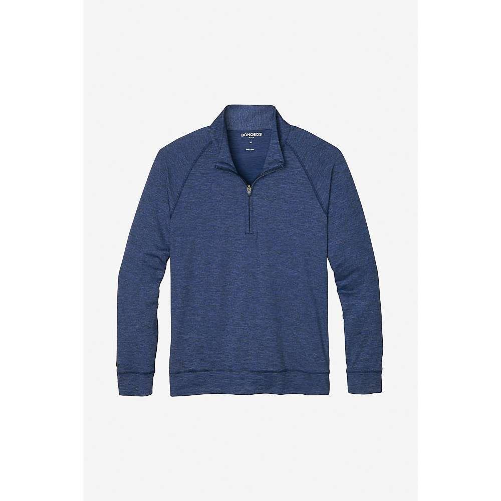 ボノボス Bonobos メンズ シャツ トップス【golf tech half zip shirt】Heather Navy