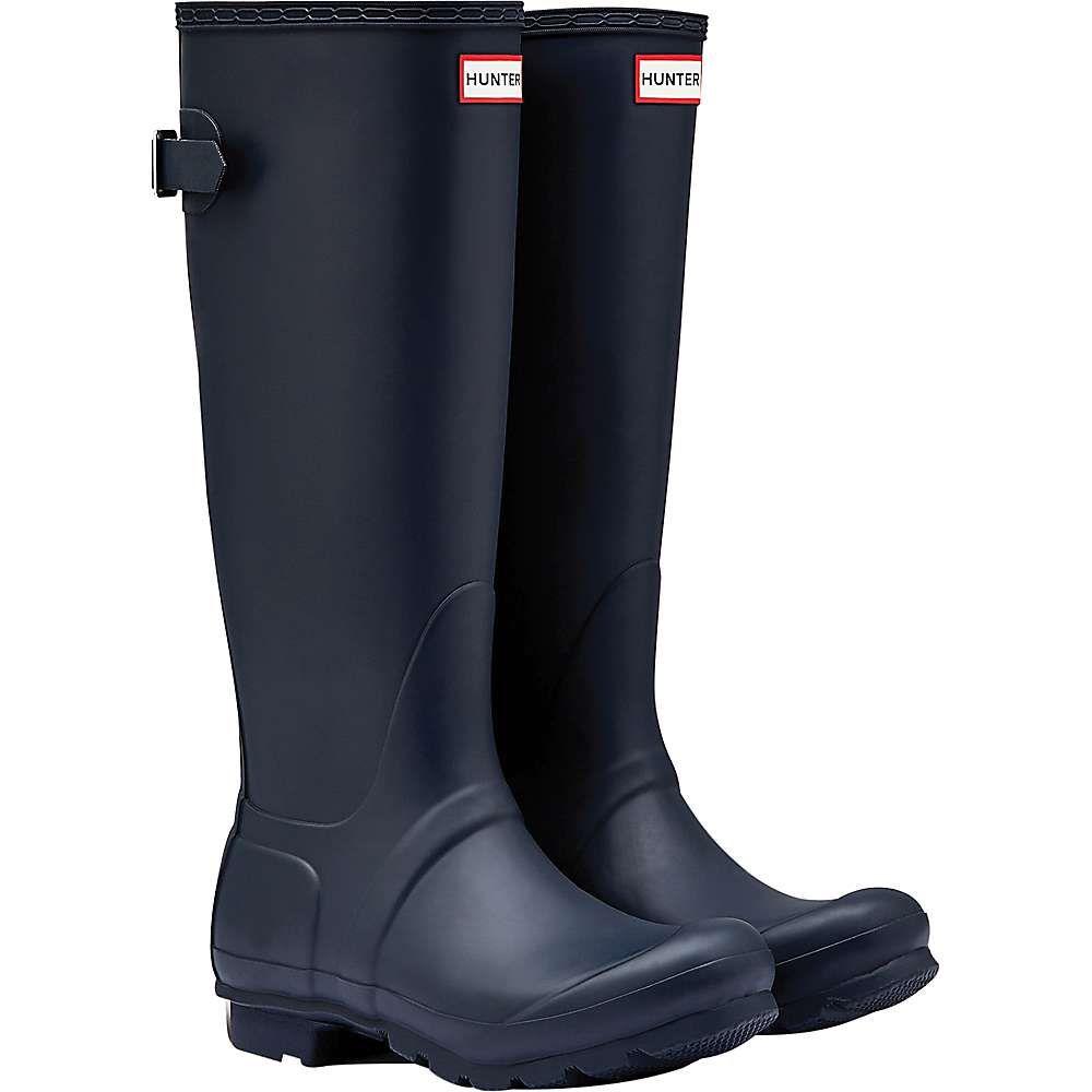 ハンター Hunter レディース ブーツ シューズ・靴【original back adjustable boot】Navy
