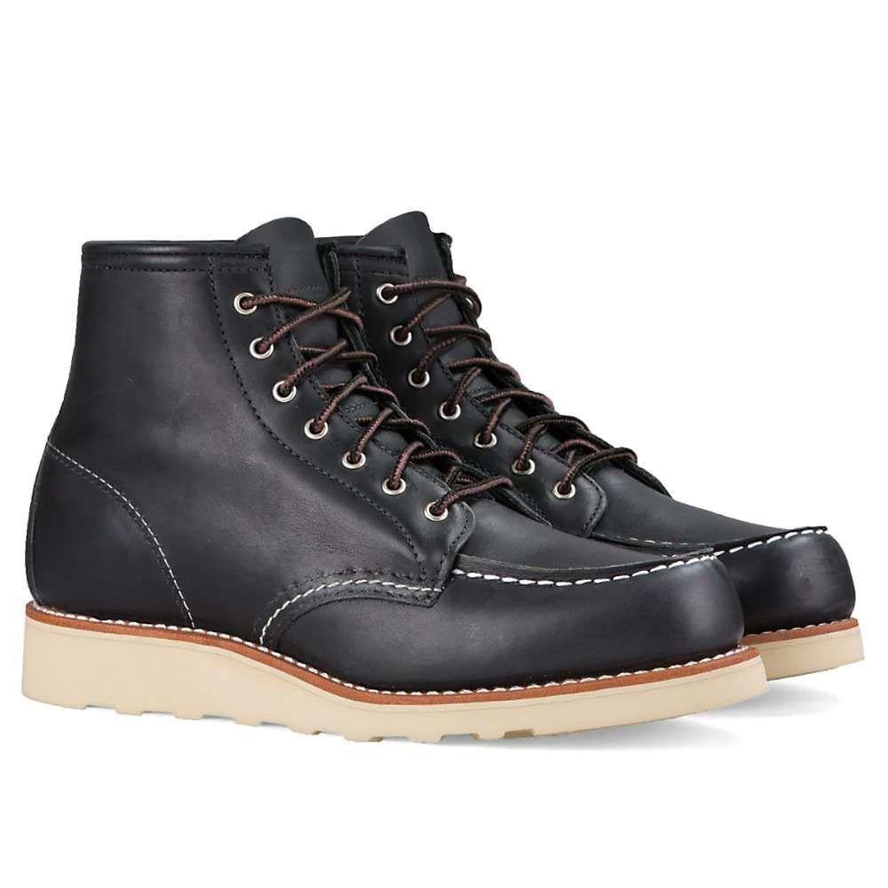 レッドウィング Red Wing Shoes レディース ブーツ シューズ・靴【red wing heritage 3373 6-inch classic moc boot】Black Boundary