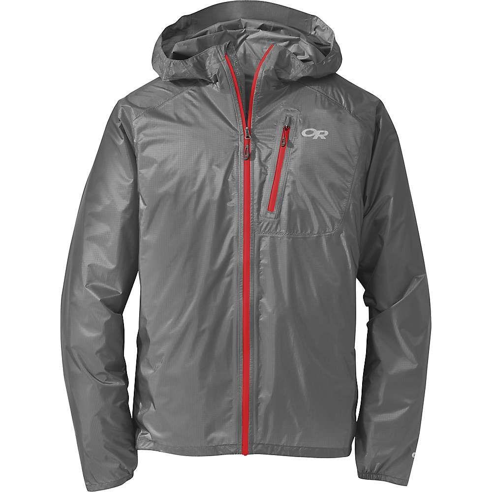 アウトドアリサーチ Outdoor Research メンズ レインコート アウター【helium ii jacket】Pewter/Tomato