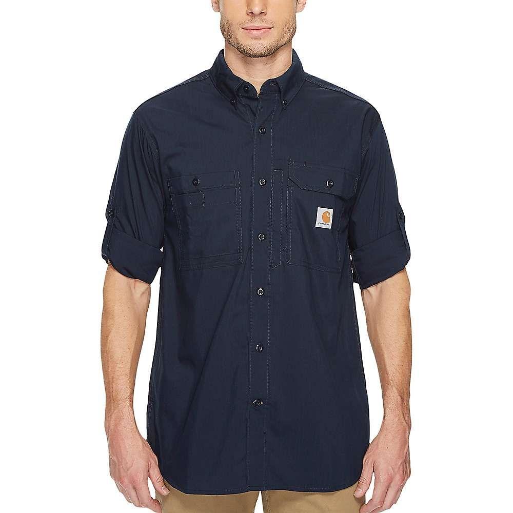カーハート Carhartt メンズ フィットネス・トレーニング トップス【force ridgefield solid ls shirt】Navy