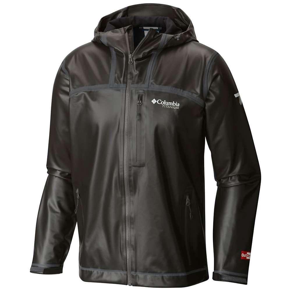 コロンビア Columbia メンズ レインコート フード シェルジャケット アウター【titanium outdry ex stretch hooded shell jacket】Black