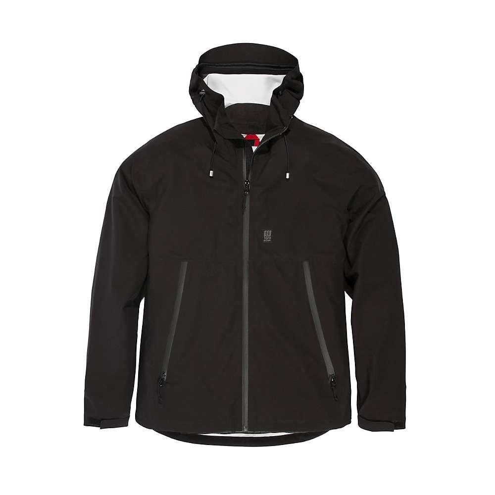 トポ デザイン Topo Designs メンズ レインコート アウター【global jacket】Black F