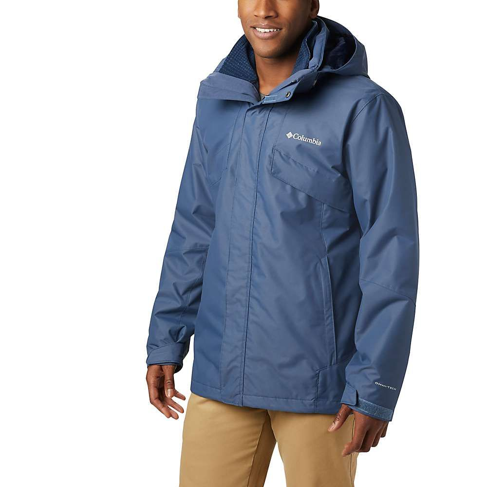コロンビア Columbia メンズ レインコート アウター【bugaboo ii fleece interchange jacket】Dark Mountain/Collegiate Navy