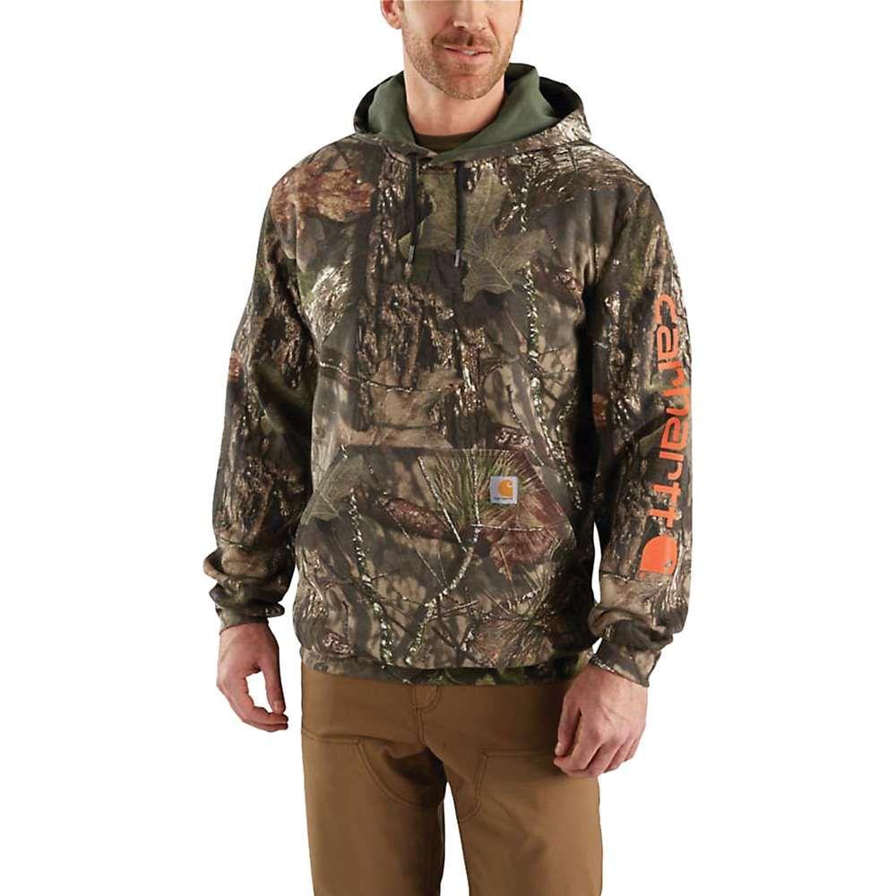 カーハート Carhartt メンズ スウェット・トレーナー トップス【midweight camo sleeve logo hooded sweatshirt】Mossy Oak Break-Up Country