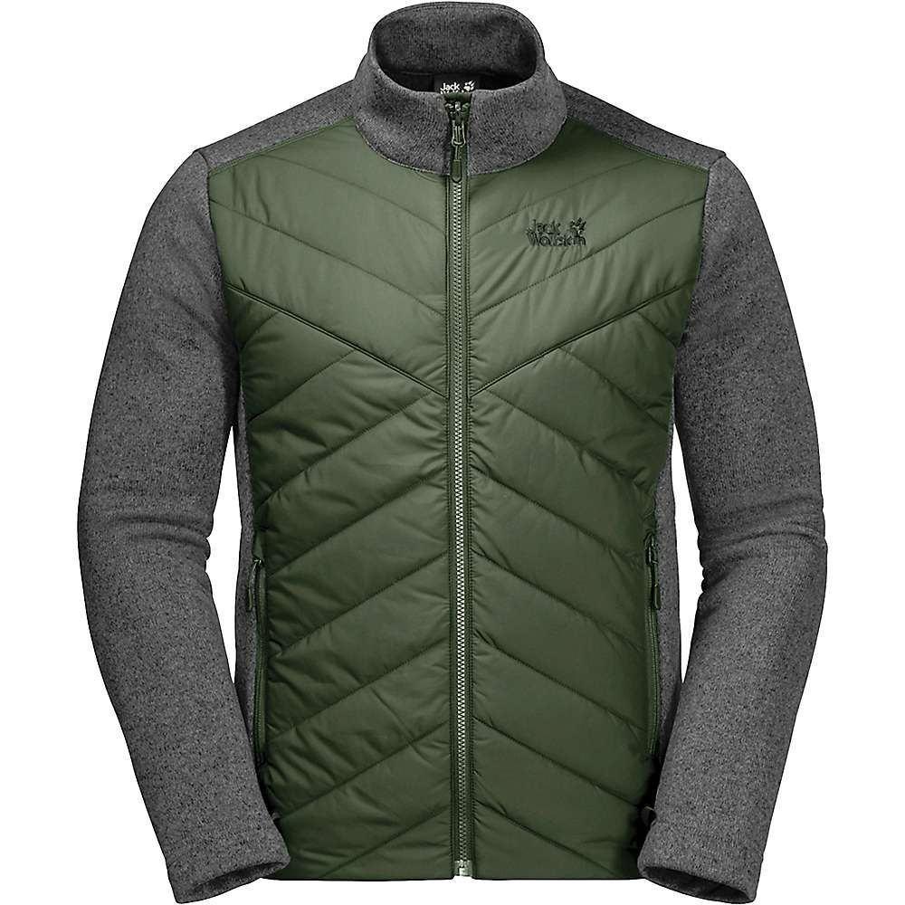 ジャックウルフスキン Jack Wolfskin メンズ ジャージ アウター【caribou crossing track jacket】Moss