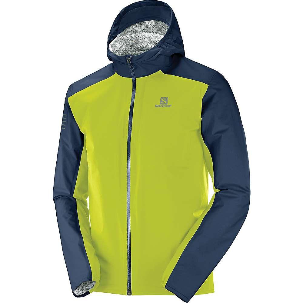 サロモン Salomon メンズ レインコート アウター【bonatti waterproof jacket】Night Sky/Citronelle