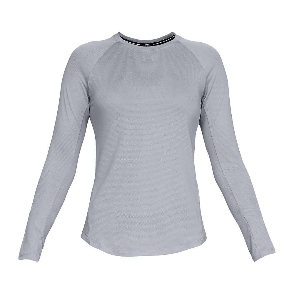 アンダーアーマー Under Armour レディース フィットネス・トレーニング トップス【ua qualifier long sleeve top】Mod Gray/Mod Gray/Reflective