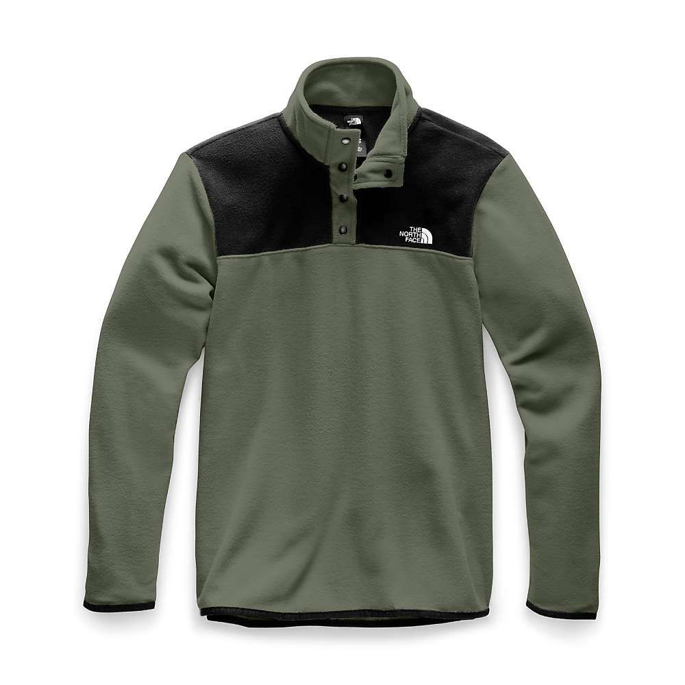 ザ ノースフェイス The North Face メンズ フリース トップス【tka glacier 1/4 zip top】New Taupe Green/TNF Black