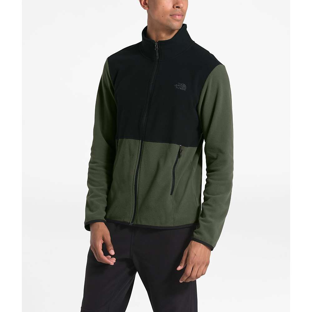 ザ ノースフェイス The North Face メンズ フリース トップス【tka glacier full zip jacket】New Taupe Green/TNF Black