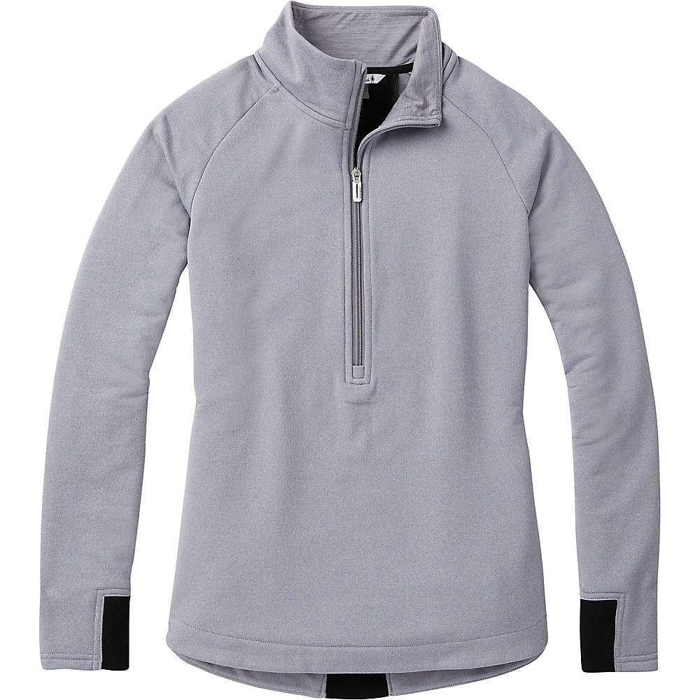 スマートウール Smartwool レディース フィットネス・トレーニング ハーフジップ トップス【merino sport fleece 1/2 zip pullover】Light Gray Heather