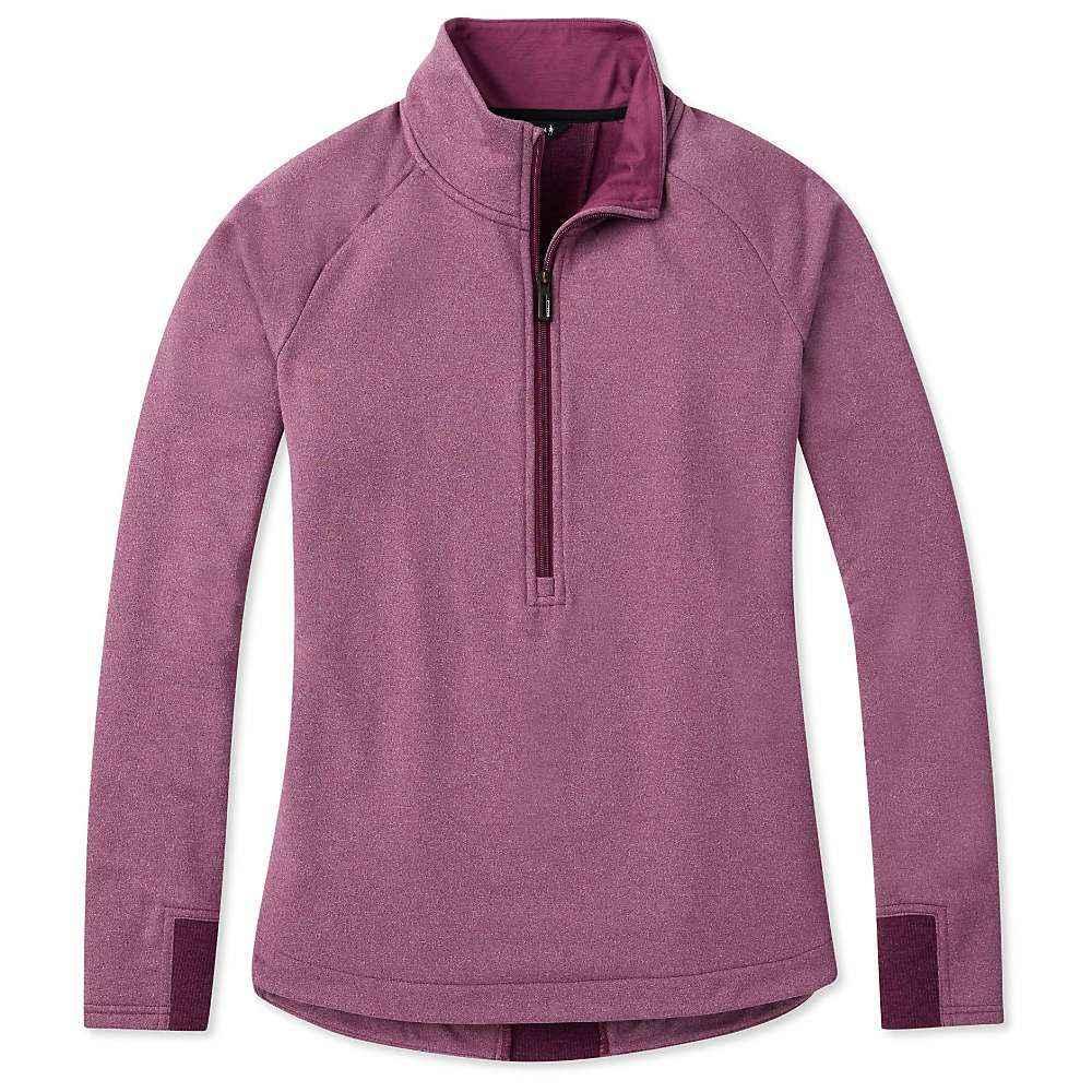スマートウール Smartwool レディース フィットネス・トレーニング ハーフジップ トップス【merino sport fleece 1/2 zip pullover】Sangria Heather