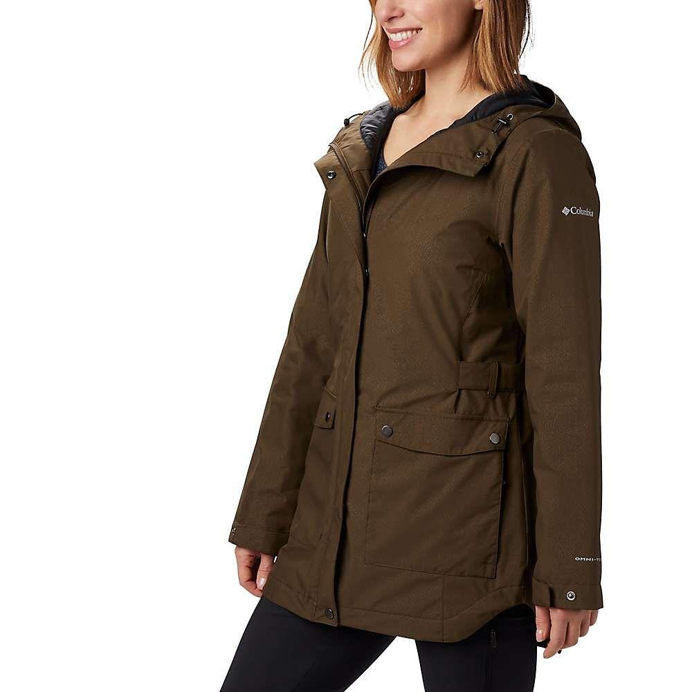 コロンビア Columbia レディース ジャケット アウター【here and there insulated trench jacket】Olive Green Lattice Emboss