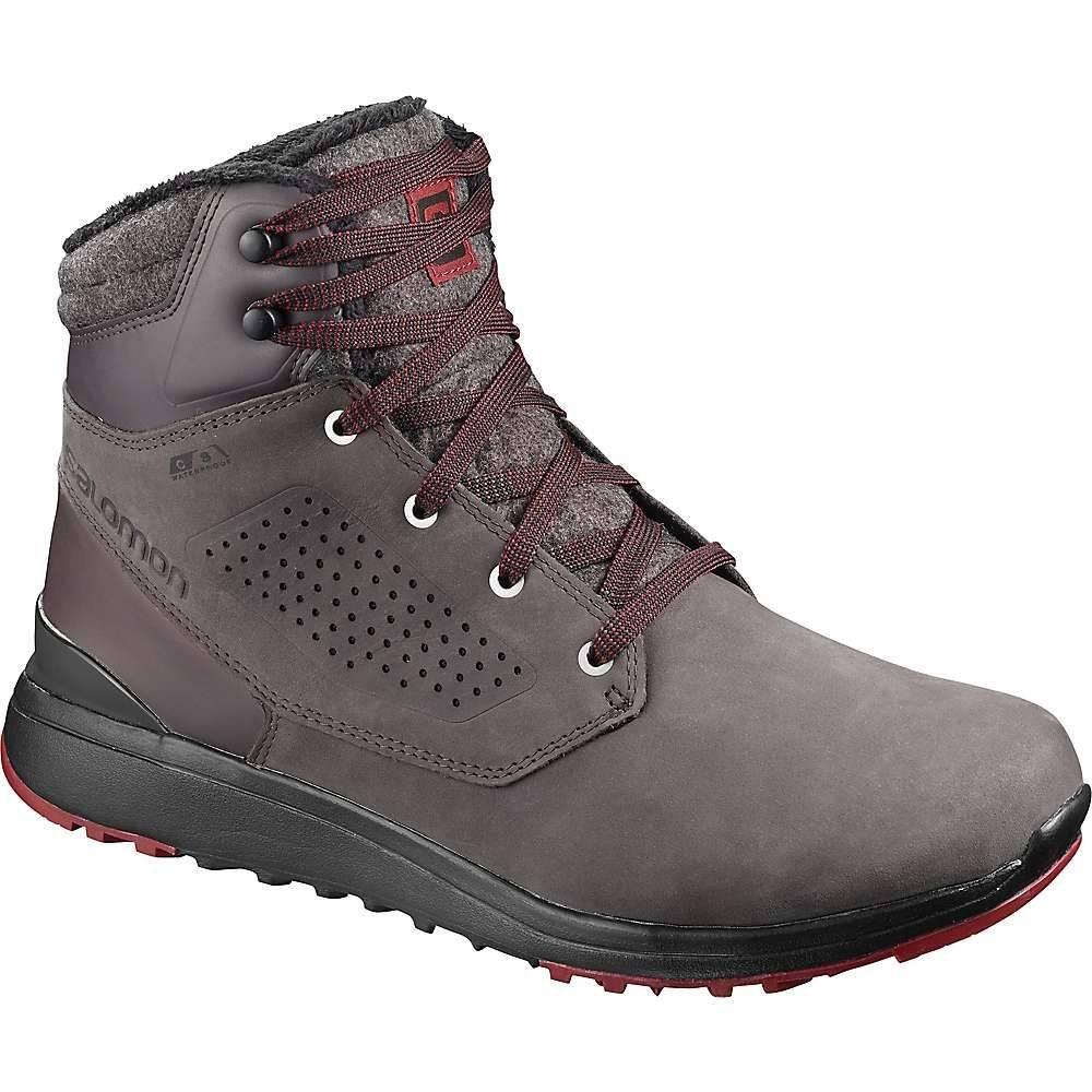 サロモン Salomon メンズ シューズ・靴 【utility winter cs waterproof shoe】Shale/Black/Syrah