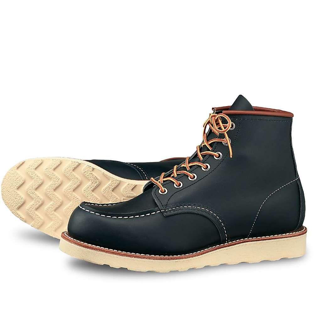 レッドウィング Red Wing Shoes メンズ ブーツ モックトゥ シューズ・靴【red wing heritage 8859 6-inch classic moc toe boot】Navy Portage