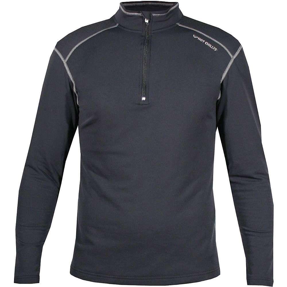 ホットチリーズ Hot Chillys メンズ フィットネス・トレーニング Tシャツ トップス【micro elite xt zip tee】Black/Granite